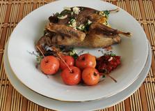 Куропатки, запеченные с рисом (пошаговый фото рецепт)