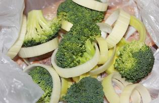 Заморозка брокколи и лука-порея на зиму (пошаговый фото рецепт)