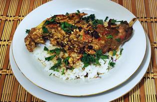 Кролик в майонезно-брусничном маринаде (пошаговый фото рецепт)