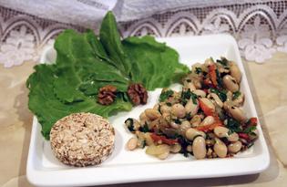 Теплый салат с фасолью (пошаговый фото рецепт)