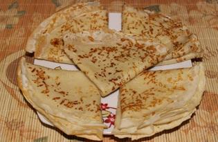 Сырные блины (пошаговый фото рецепт)