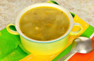 Щи с консервированным зеленым горошком (пошаговый фото рецепт)