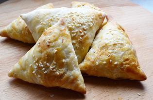 Узбекская самса с курицей (пошаговый фото рецепт)