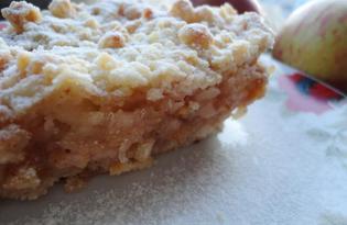 Яблочный насыпной пирог (пошаговый фото рецепт)