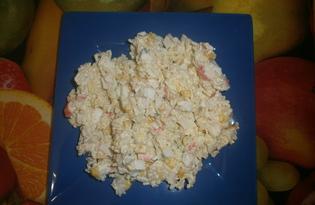 Салат с крабовыми палочками и плавленным сыром (пошаговый фото рецепт)