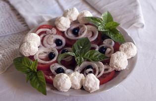 Салат из помидоров и творога (пошаговый фото рецепт)