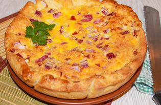 Французский сырно - луковый пирог (пошаговый фото рецепт)
