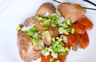 Курица в вине в мультиварке (пошаговый фото рецепт)
