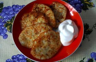 Картофельно - кабачковые оладьи (пошаговый фото рецепт)