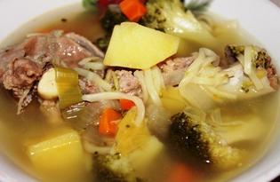 Суп с говядиной и брокколи в мультиварке Delfa (пошаговый фото рецепт)