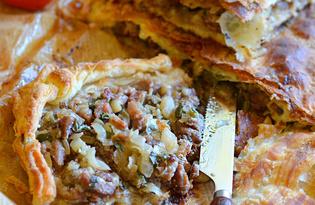 Пирог с бараниной  (пошаговый фото рецепт)