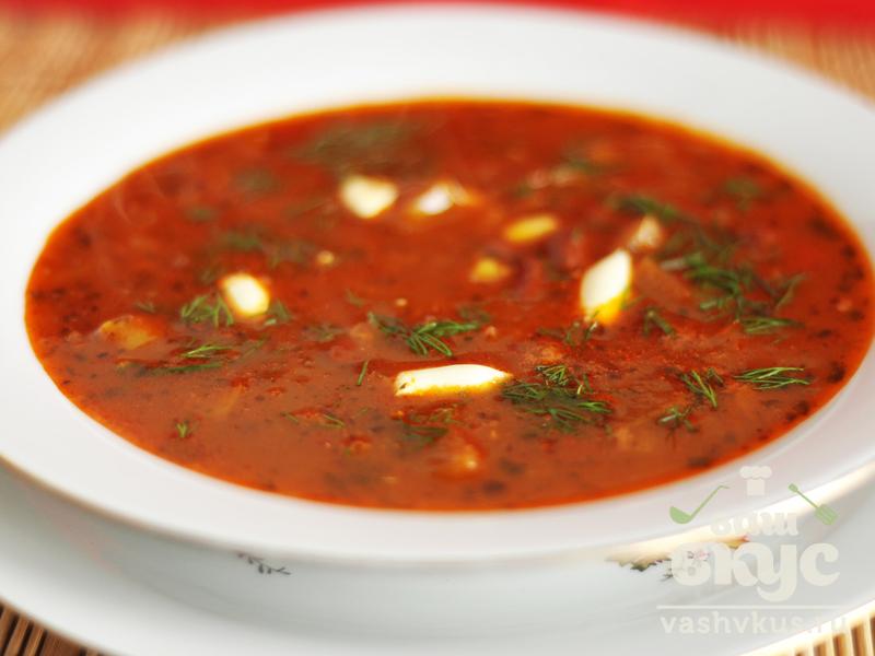 супы с фасолью острый рецепты