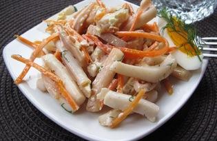 Салат из кальмаров с морковью по-корейски (пошаговый фото рецепт)