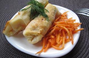 Закуска из лаваша с картофелем и морковью по-корейски (пошаговый фото рецепт)
