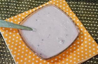 Йогурт с ежевикой в мультиварке (пошаговый фото рецепт)