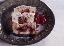 Песочный пирог с замороженными ягодами (пошаговый фото рецепт)