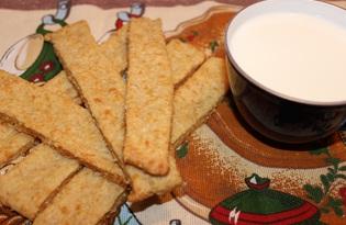 Хрустящие палочки из овсяных хлопьев с сыром (пошаговый фото рецепт)
