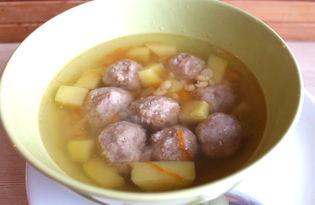 Гороховый суп с фрикадельками (пошаговый фото рецепт)