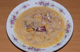 Тайский суп с морепродуктами и кокосовым молоком (пошаговый фото рецепт)