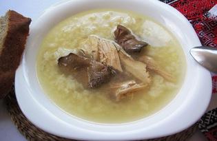 Куриный бульон с рисом (пошаговый фото рецепт)