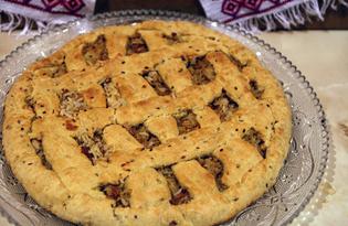 Пирог с рисом и курицей (пошаговый фото рецепт)