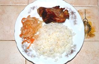 Цыпленок в карамеле (пошаговый фото рецепт)