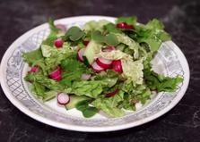 Салат с зеленью, огурцом и редисом (пошаговый фото рецепт)