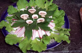 Зеленый салат с редисом и творожной заправкой (пошаговый фото рецепт)