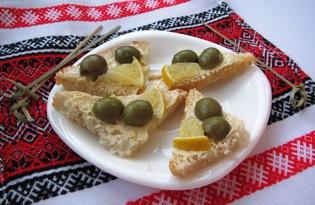 Бутерброды с горчичным маслом (пошаговый фото рецепт)