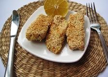 Рыба в кляре с кунжутом (пошаговый фото рецепт)