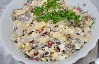 Салат из говядины с орехами (пошаговый фото рецепт)