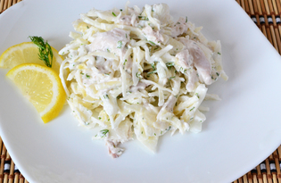 Салат с курицей и свежей капустой (пошаговый фото рецепт)