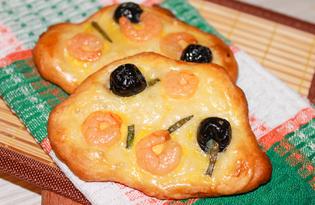 Фокачча с креветками и зеленым луком (пошаговый фото рецепт)