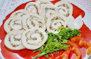 Куриные рулеты с зеленью и сыром в духовке (пошаговый фото рецепт)