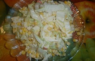 Легкий салат из пекинской капусты (пошаговый фото рецепт)