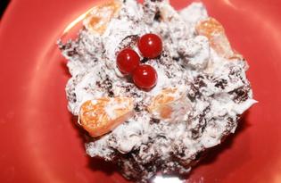 Десерт из бисквита на кипятке (пошаговый фото рецепт)