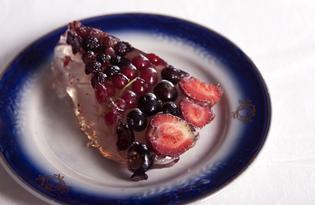 Торт - желе с ягодами (пошаговый фото рецепт)
