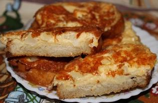 Гренки с сыром и луком на сковороде (пошаговый фото рецепт)