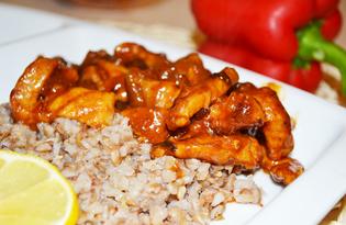 Свинина по-строгановски в томатно - медовом соусе (пошаговый фото рецепт)