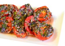 Острые помидоры с чесноком и базиликом (пошаговый фото рецепт)