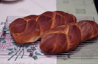 """Дрожжевой хлеб """"Косичка"""" (пошаговый фото рецепт)"""