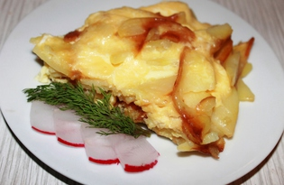 Жареный картофель с яйцами и сыром (пошаговый фото рецепт)