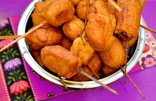 Сосиска на палочке в тесте (пошаговый фото рецепт)