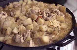 Рецепты тушеной картошки с куриной грудкой