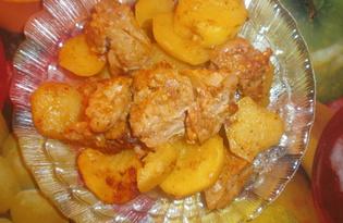 Картошка с мясом запеченная в стеклянной форме (пошаговый фото рецепт)