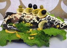 Осетр, запеченный в духовке (пошаговый фото рецепт)