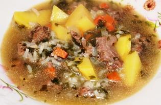 Суп с рисом и говяжьей тушенкой (пошаговый фото рецепт)