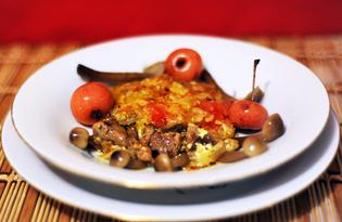 Запеченная под сыром свинина «Многослойная» (пошаговый фото рецепт)