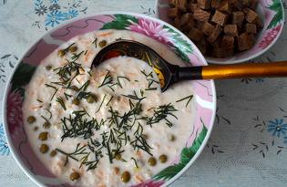 Холодный суп из редьки (пошаговый фото рецепт)