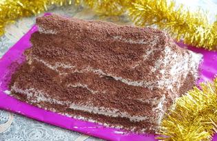 """Торт """"Монастырская изба"""" с вишней (пошаговый фото рецепт)"""